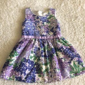 Purple and white dress